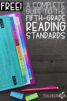 A complete guide to the fifth grade reading standards for fiction and 5th Grade Ela, 5th Grade Writing, 6th Grade Reading, Teaching 5th Grade, 5th Grade Teachers, 5th Grade Classroom, 5th Grade Centers, 5th Grade Activities, Sixth Grade