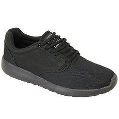 Herren Turnschuhe Crosshatch Schuhe Sneaker Schnürer Netz Laufen Designer Lässig, Die Neue - Schwarz - WILDLEDER, 10 UK / 44 EU - http://on-line-kaufen.de/crosshatch/44-eu-10-uk-herren-turnschuhe-crosshatch-schuhe-3