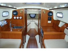 Beautifully crafted woodwork on this Contessa 26