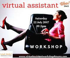 Every week I'll get an email or message asking me what a virtual assistant is or where to find work that they can do from home. So now you can! Join me at my Virtual Assistant Workshop and find out what a VA is all about and if it's something for you? Just go to my website www.virtualassistantworkshop4mums.com and have a read through it and register for my workshop. Upcoming dates: 20 May @hornsbykucommcollege 16 June @coastalenvironmentalservices and 22 July @woosocialclub