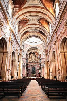 Mafra - viem of the Mafra Convent nave.