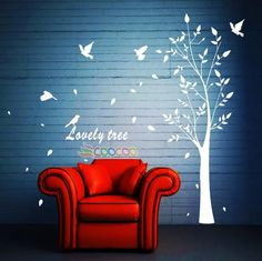 Wall Decor Decal Sticker Removable vinyl large tree 74""