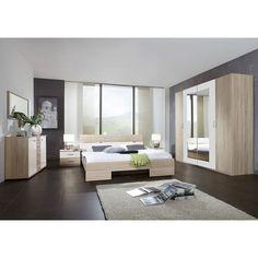 Schlafzimmer-Set weiss Hochglanz mit Bett 160 x 200 cm Jetzt ...