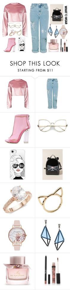 """my fav set"" by megi-queen on Polyvore featuring Boohoo, WithChic, Casetify, Francesca's, Saks Fifth Avenue, Olivia Burton, Issey Miyake and Burberry"