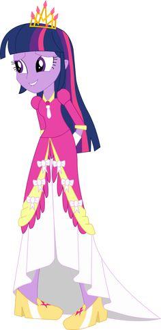 Equestria Girls Twilight Sparkle (Princess Dress) by JustinKWork on DeviantArt