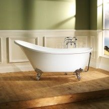 1550mm Large Victoria Traditional Roll Top Slipper Bath With Dragon Feet
