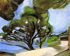 bofransson:  Henri Matisse - Road in Cap d'Antibes - The Large Pine, 1926