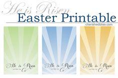 He is Risen Easter Printable via cherishedbliss.com #easter #printable