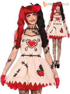 Mesdames-Leg-Avenue-sexy-costume-poupee-vaudou-casse-pour-femme-Halloween-Deguisements