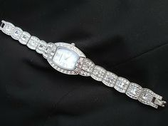 Isaac Mizrahi's LIVE! Crystal Bracelet Watch. Elegant accents for that LBD #QVCgifts