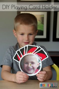 DIY Playing Card Holder for Kids - or people like myself who cannot hold cards without dropping them!