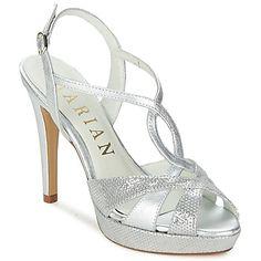 sandales talon argent