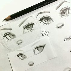 New eye drawing tutorial character design ideas Realistic Eye Drawing, Nose Drawing, Drawing Tips, Drawing Sketches, Drawing Faces, Sketching, Eye Sketch, Learn Drawing, Drawing Ideas