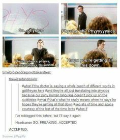 The doctor being smart