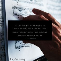 Writing Quotes | Musical Words | Story Embers