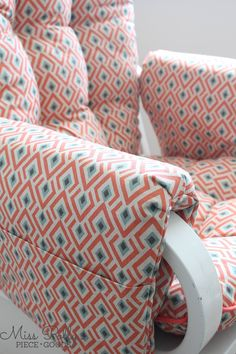 Custom glider cushions with arm rests