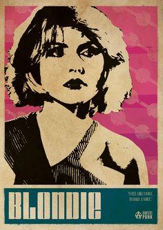 Debbie Harry Blondie Punk Poster