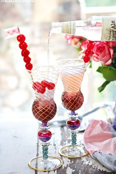 Dirty Shirley Cocktail | a Shirley Temple Drink ~ All Grown Up| MarlaMeridith.com