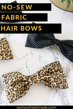 This no-sew bow is going to look darling in your little girl's hair! No Sew Bow, Fabric Hair Bows, Hair Bow Tutorial, Little Girl Hairstyles, Fashion Outfits, Fashion Tips, Little Girls, Sewing, Hair Styles