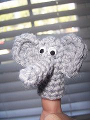 Ravelry: Elephant Finger Puppet (archived) pattern by SAG55