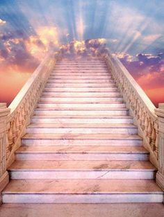 The stairway to Heaven. Salvation and every lasting life a waits. Stairway To Heaven Tattoo, Stairs To Heaven, Gates Of Heaven Tattoo, Heaven Pictures, Jesus Pictures, Images Ciel, Heaven Tattoos, Image Jesus, Christians