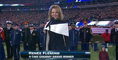 Renee Fleming- Opera singer  She has a beautiful voice and she is an honorary member of my women's fraternity. SIGMA ALPHA IOTA!! Love and roses!