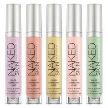 We've all got our vices. The last thing you need is for the evidence of those sins to be visible all over your pretty face. Enter Naked Skin Color Correcting Fluid. Our innovative, lightweight formula instantly color-corrects and blurs flaws, leaving skin illuminated and bright. Don't just conceal, correct your worst transgressions with five targeted shades for everything from redness to dark circles.
