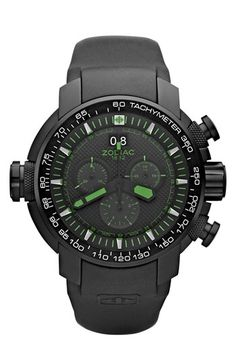 Zodiac 'Special Ops' Chronograph Rubber Strap Watch, 50mm | Nordstrom