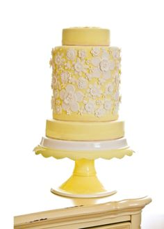 yellow cake on a clara french cake stand. Beautiful Wedding Cakes, Gorgeous Cakes, Pretty Cakes, Amazing Cakes, Perfect Wedding, Cupcakes, Cupcake Cakes, French Cake, Cake Pedestal