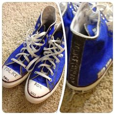 :o Doctor Who hand painted High Top Converse