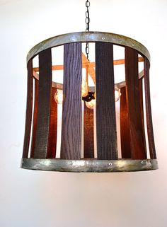 Wine Barrel Hanging Chandelier V20 100 by winecountrycraftsman