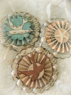 Sea Shell Ornaments for Spring~