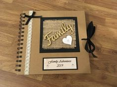 Wow I only added to my shop today and they are already selling :] Family Adventures Handmade Scrapbook Photo Album, Family Memory Book, Diary, Photo Book Scrapbook Cover, Scrapbook Journal, Diy Scrapbook, Family Photo Album, Album Photo, Memory Photo Books, Handmade Scrapbook, Personalised Scrapbook, Memory Album