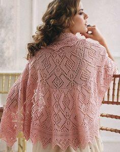 Delicadezas en crochet Gabriela: RADIOS chal delicado