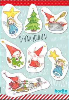 Printtaa kuvittaja, AD Taru Castrenin taiteilemat suloiset pakettikortit joululahjoihin. Merry Little Christmas, Christmas Deco, White Christmas, Christmas Crafts, Christmas Calendar, School Holidays, Old Postcards, Xmas Cards, Handicraft