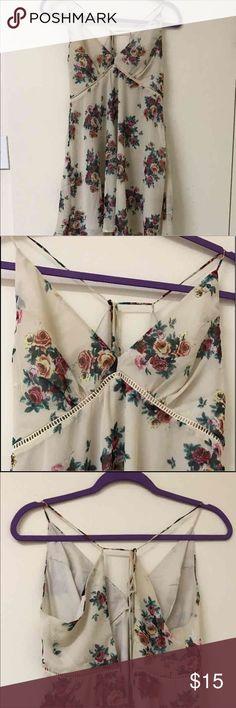 Floral mini dress Very cute mini dress, only wore once !! Dresses Mini