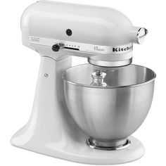 KitchenAid Classic 4.5 Qt. Stand Mixer in White-K45SSWH - The Home Depot