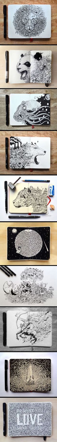 Funny pictures about Hyper-Detailed Drawings. Oh, and cool pics about Hyper-Detailed Drawings. Also, Hyper-Detailed Drawings photos. Detailed Drawings, Amazing Drawings, Cool Drawings, Amazing Art, Pretty Drawings, Animal Drawings, Doodle Art, Zentangle, Stylo Art