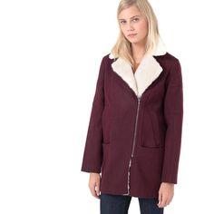 Halda biker-style sheepskin-lined coat 2Two | La Redoute