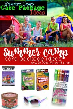 Do you have a child going off to camp this summer? Then make sure to check out these fun summer camp care package ideas! Over night camp can be exciting and is always so much fun, but it can also feel lonely at times. One of the very best parts of summer Camping Survival, Camping Packing, Camping Gifts, Camping Checklist, Summer Camp Packing, Camping Outfits, Camping With Kids, Go Camping, Camping Hacks
