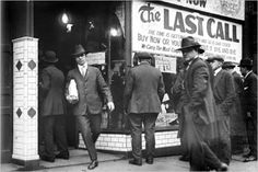 Prohibition: On January 16,1920, the national policy of Prohibition began.  PHOTO:  Detroit, the day before Prohibition