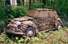 Car Art -- stone garden