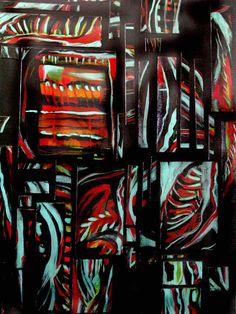 Piecemeal-collage, acrylic