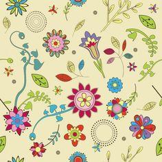 flores e fundo bege