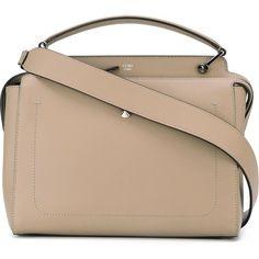 Fendi 'Dotcom' tote ($2,505) ❤ liked on Polyvore featuring bags, handbags, tote bags, grey, hand bags, fendi tote, fendi purse, handbag purse and man bag
