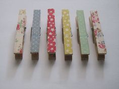 Magnetic pegs made with Cath Kidston tape  set of by loulalacrafts, $7.00