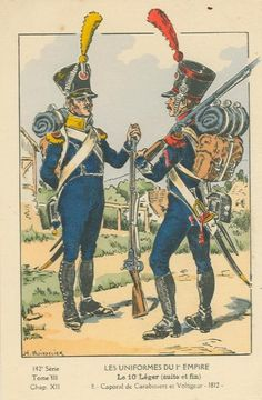 French; 10th Light Infantry, Voltigeur & Carabiner Corporal, 1812