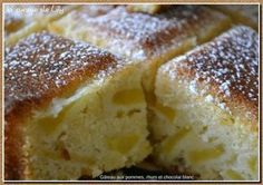 Gâteau aux pommes, rhum et chocolat blanc