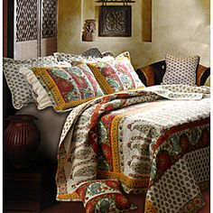 I like this one too !print.http://www.overstock.com/Bedding-Bath/Marrakesh-5-piece-Quilt-Set/6751468/product.html?CID=214117 $78.99