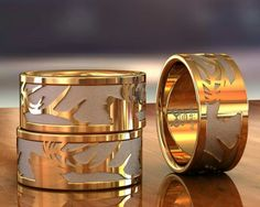 www.duckbandbrand.com Jewelry for hunters by hunters. Custom 14K gold Elk bust ring.
